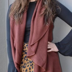 Jackets & Blazers - Laurie Cape Style Vest In Rust